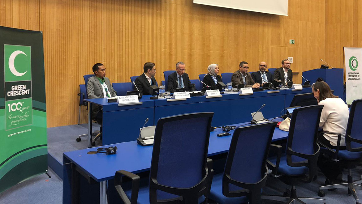 Green Crescent has attended the United Nations Conference in Vienna with 18 Country Representatives